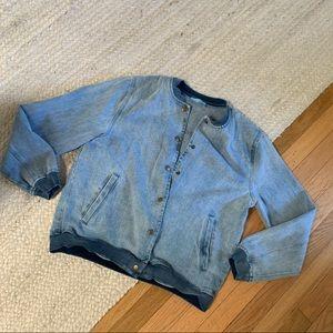 Show Me Your Mumu Denim Letterman Style Jacket!👖